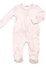 Angel Dear Basic Pink Striped Zipper Footie