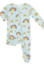 Angel Dear Blue Rainbow Zipper Footie