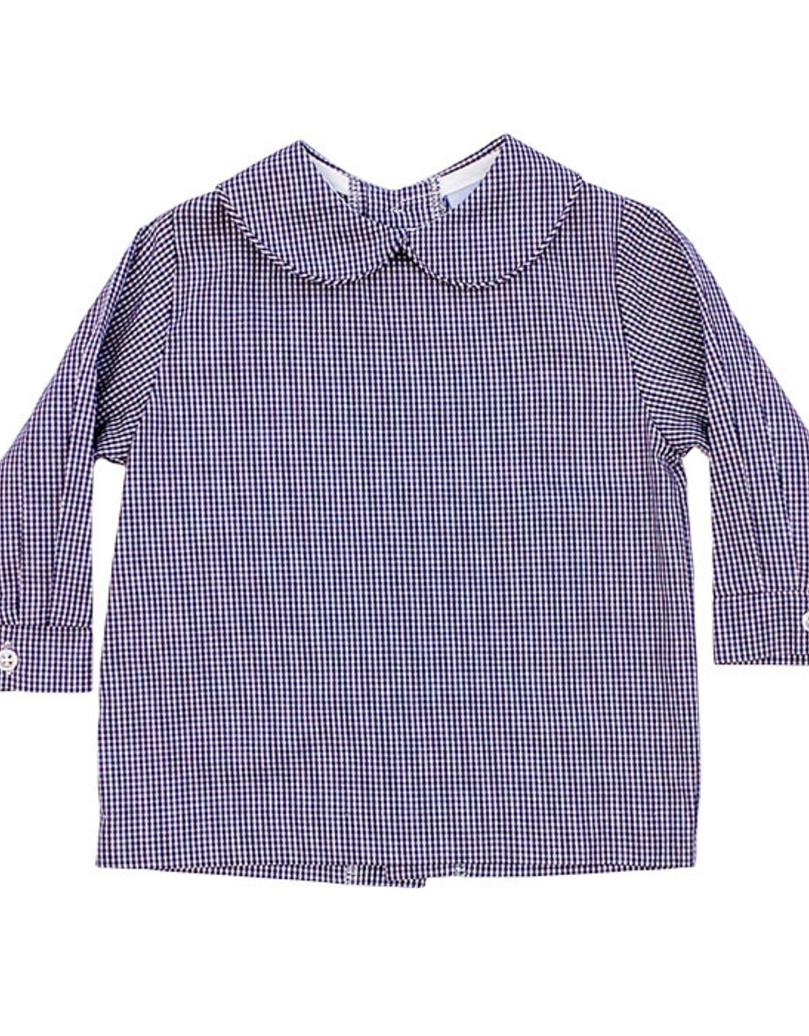 The Bailey Boys Navy Check Boys Piped Shirt