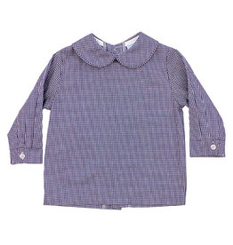 The Bailey Boys Navy Check Boys Piped Shirt