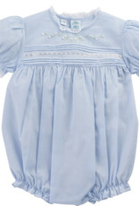 Feltman Brothers Blue Floral Bullions And Lace Romper