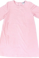 Pink And White Stripe A-Line Dress