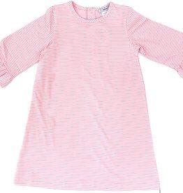 Ishtex Pink And White Stripe A-Line Dress