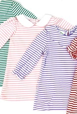 Zuccini Louisa Short Sleeve Red Stripe Dress