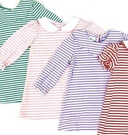 Zuccini Louisa Short Sleeve Red Stripe Dress