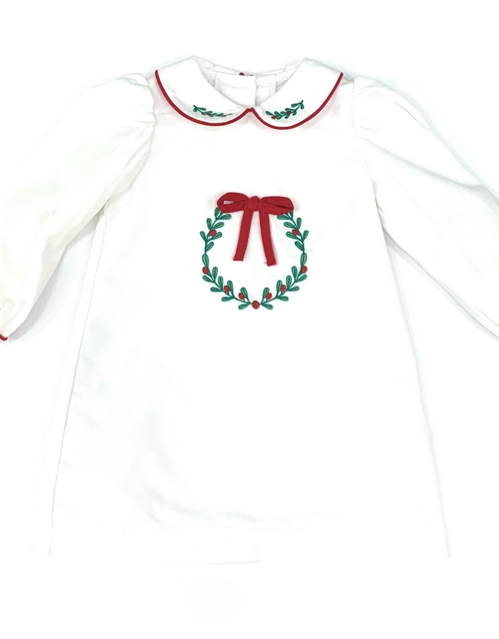 Zuccini White Wreath Cord Dress