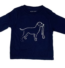 Mustard & ketchup Navy Dog Long Sleeve