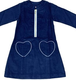 Peggy Green Pacific Corduroy Dress With Heart Pockets