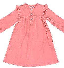 Peggy Green Pink Bubblegum Pima Knit Button Dress