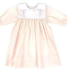 Auraluz Pink Bow Long Sleeve Dress