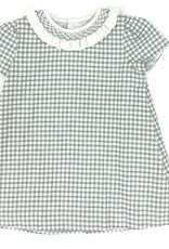 Sophie & Lucas Green A-line With Smocked Neck Ruffle Dress