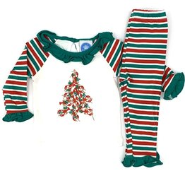 Krewe Girls  Knit Crawfish Christmas PJs