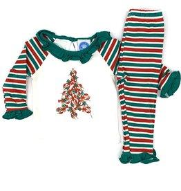 Krewe Kids Girls  Knit Crawfish Christmas PJs
