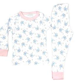 Magnolia Baby Vintage Bow Long Pajama
