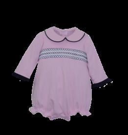 LullabySet Pink And Navy Knit Charleston Bubble