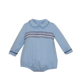 LullabySet Blue And Navy Knit Covington Bubble