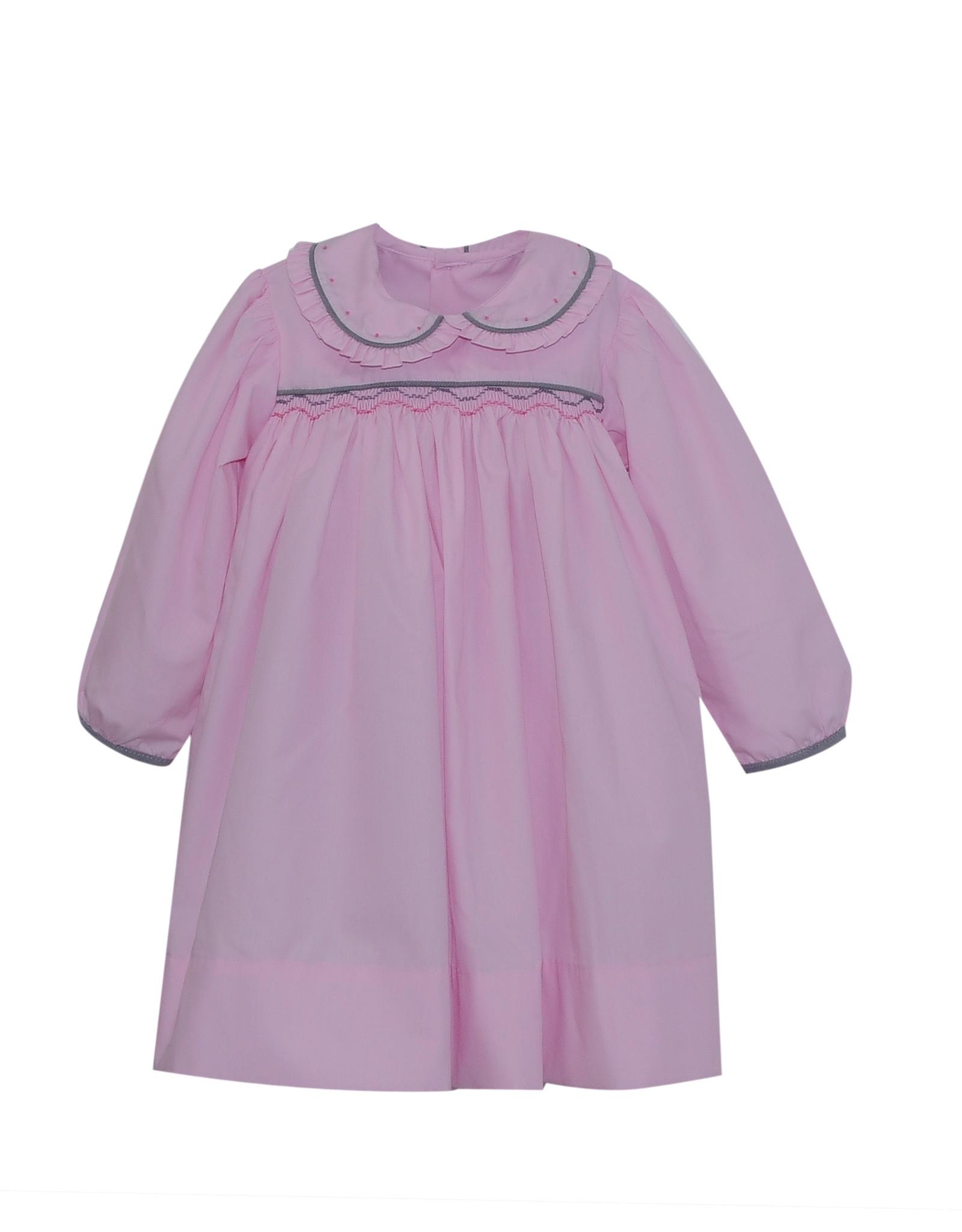 LullabySet Pink And Grey Memory Making Dress