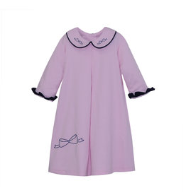 LullabySet Pink And Navy Knit Perfect Park Dress