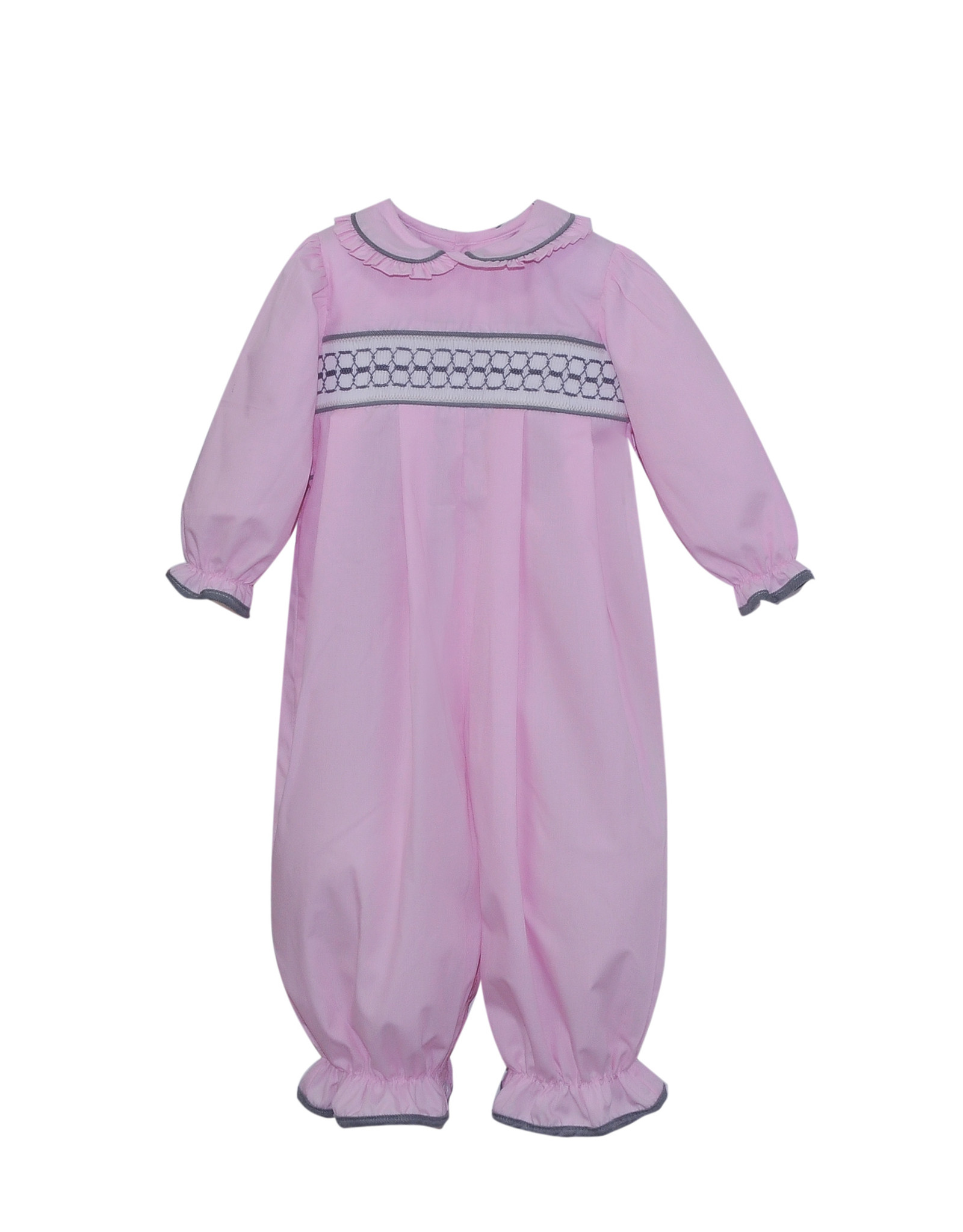 LullabySet Pink And Grey Rosie Romper
