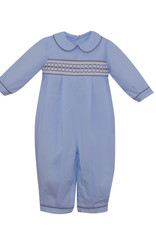 LullabySet Light Blue and Grey Rover Romper
