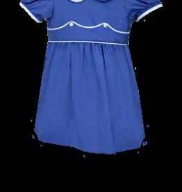 LullabySet Periwinkle And White Sunday Best Dress