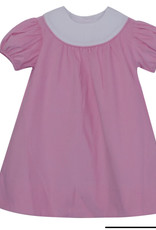 LullabySet Pink Cord With White Always Appropriate Dress
