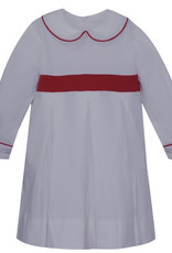 LullabySet White Cord With Red Band Caroline Dress