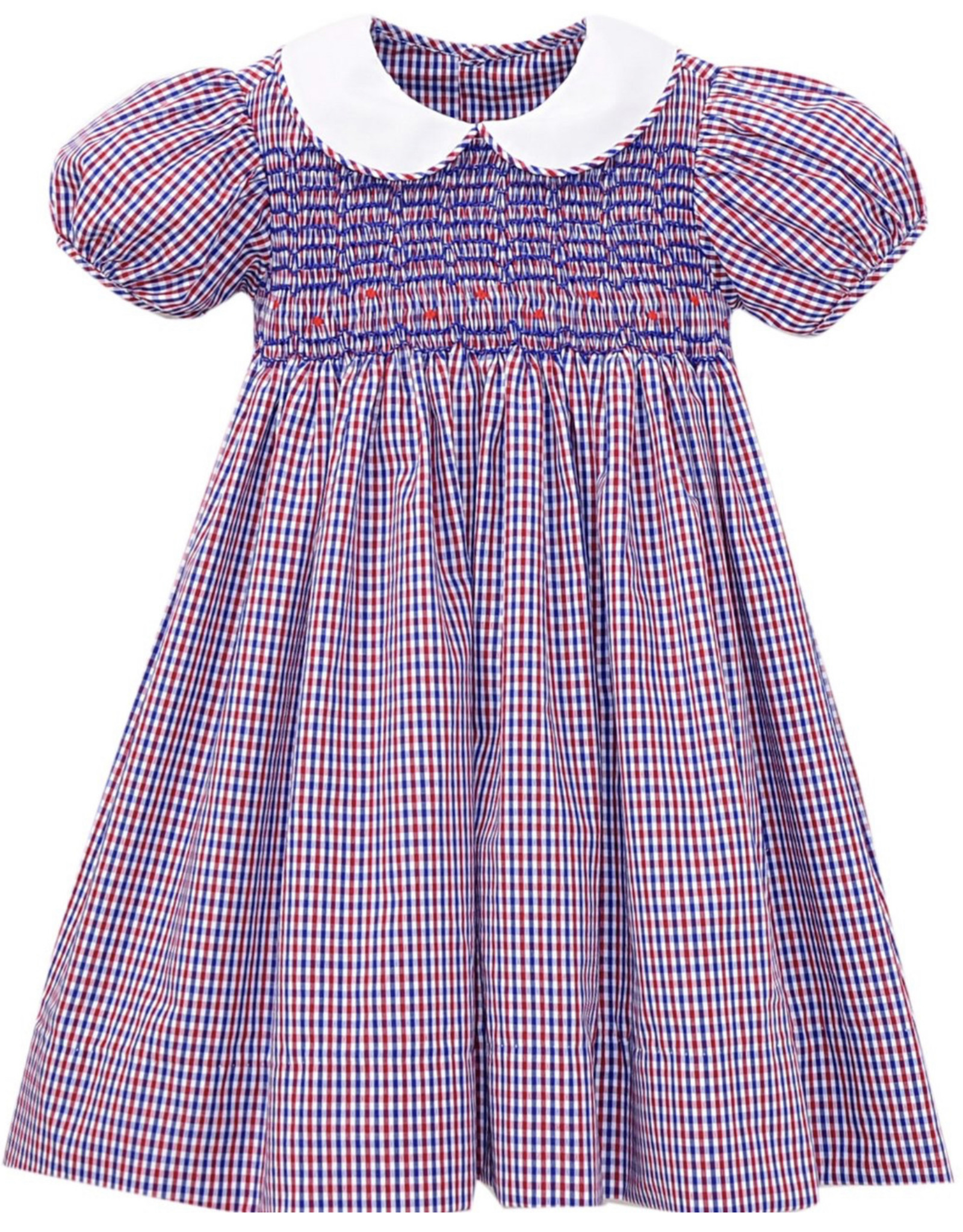 LullabySet Red And Blue Plaid Kelli Dress