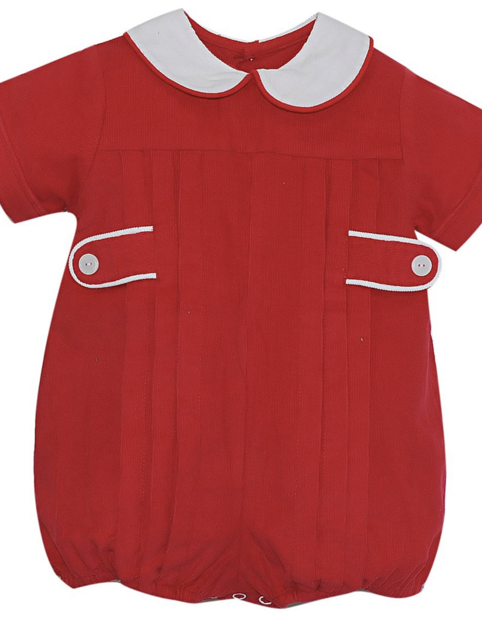 LullabySet Red Cord With Red And White Piping Properly Pleated Bubble