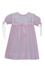 LullabySet Pink With Ribbon Lace Trim Hope Chest Dress