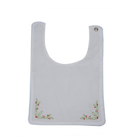 LullabySet White Heirloom Bib