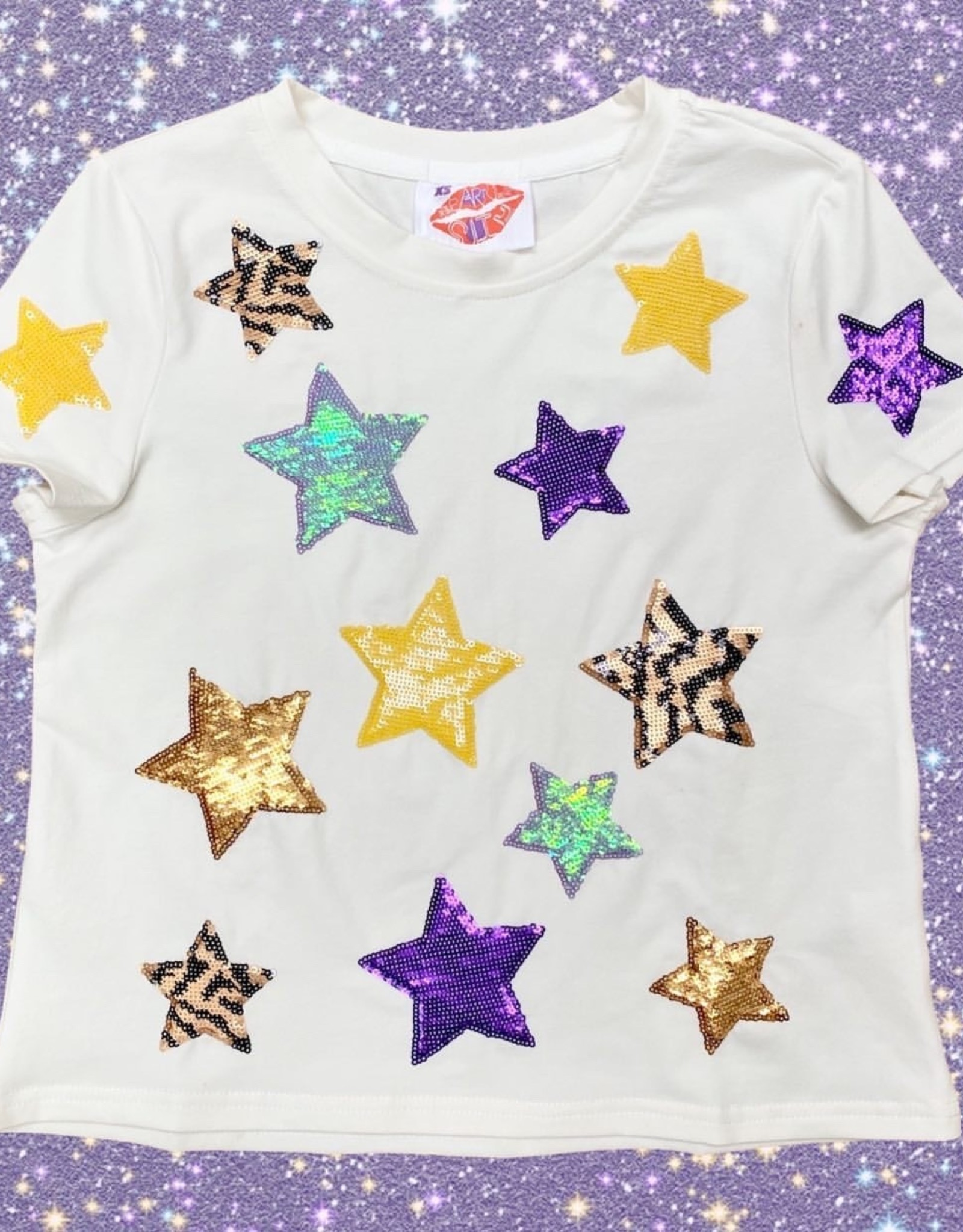 Sparkle City Kids Striped Star Tee