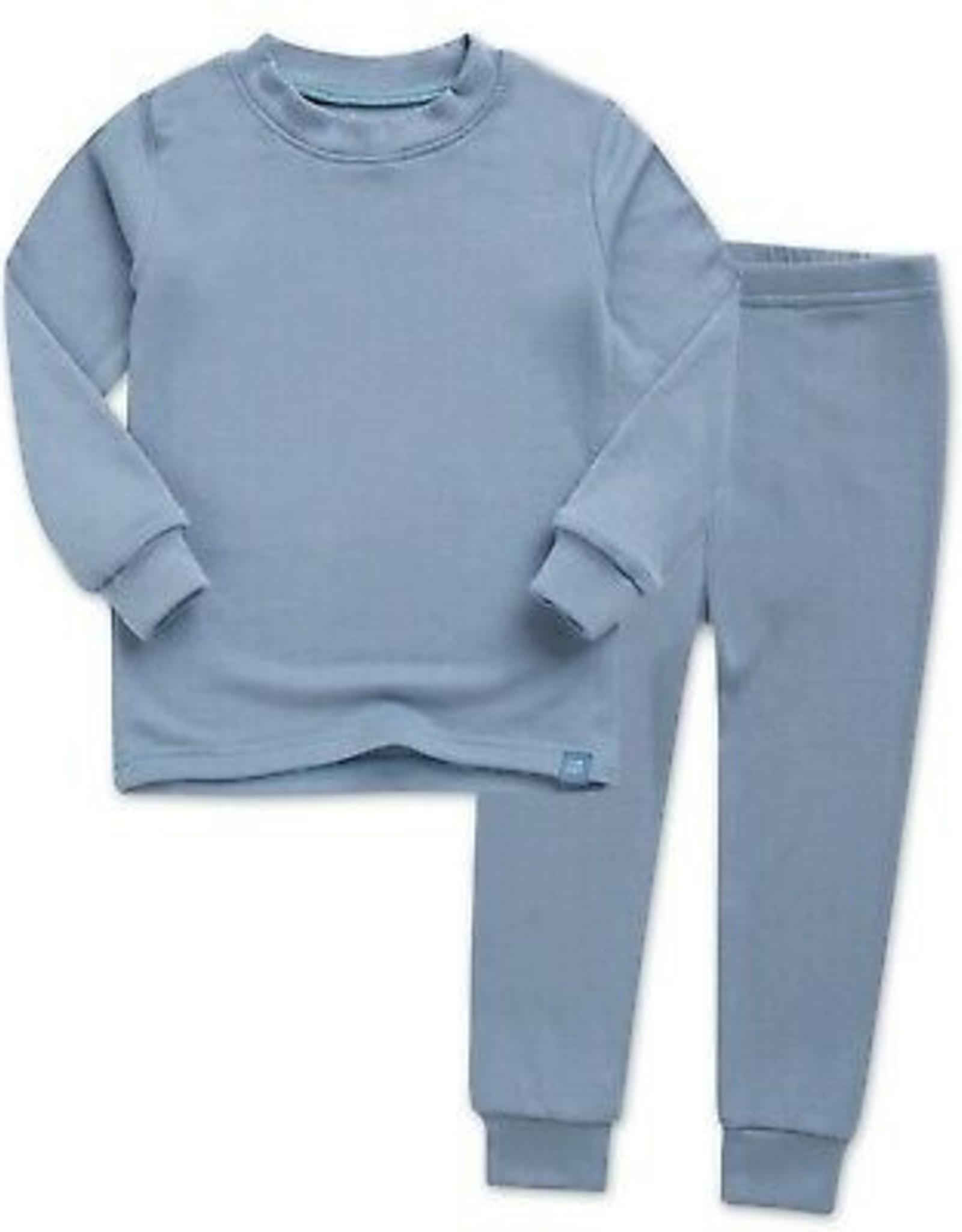 Explanet Rib Long Sleeve Pajamas