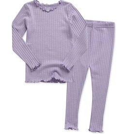 Explanet Shirring Long Sleeve Pajamas