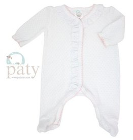 Paty Footie With Eyelet And Puff Sleeve