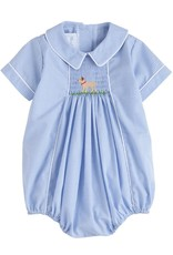 Little English Lab Chest Smocked Bubble