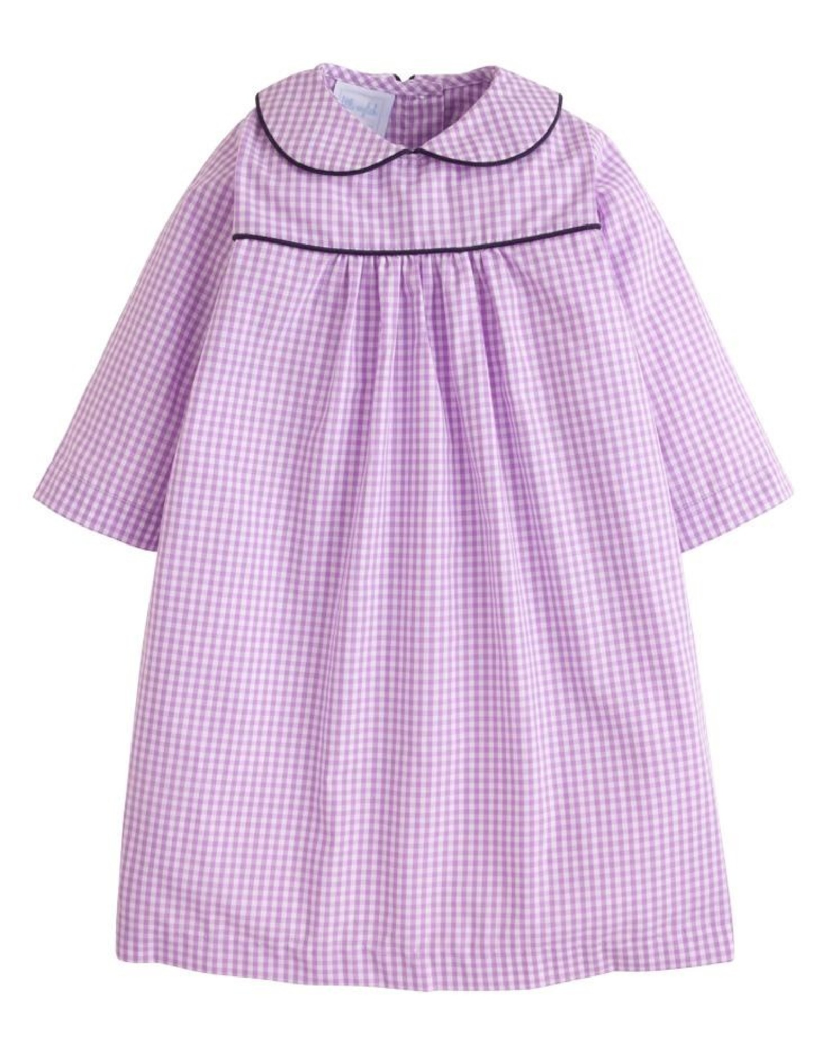 Little English Lavender Gingham Dunn Dress