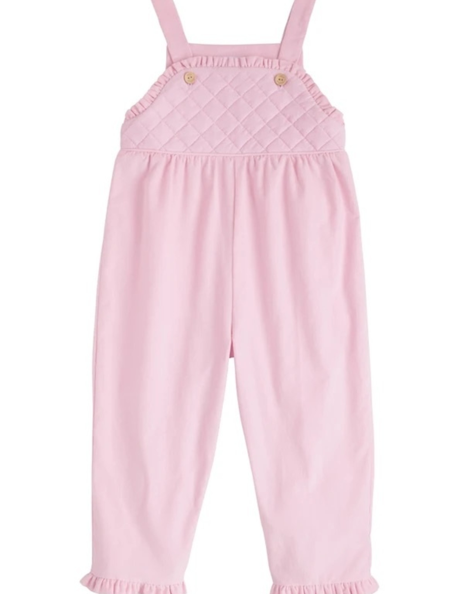 Little English Light Pink Ruffled Overall