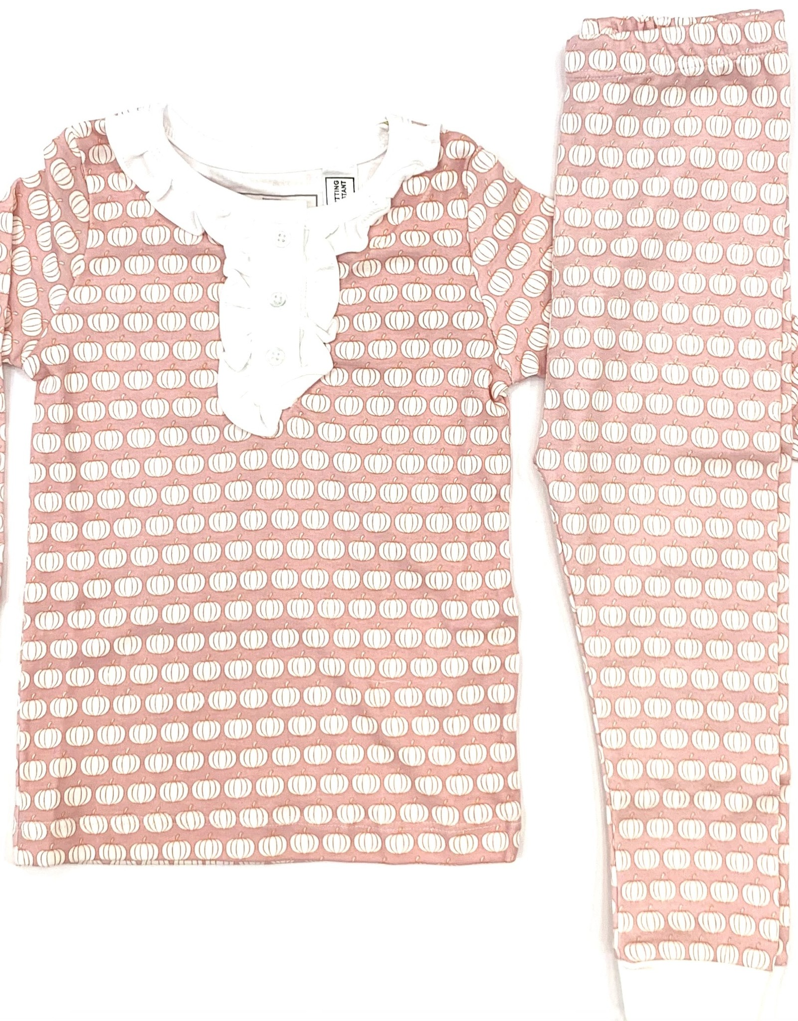 Lila and Hayes Alden Pink Pumpkin Patch PJs