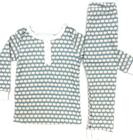 Lila and Hayes Jack Blue Pumpkin Patch PJs