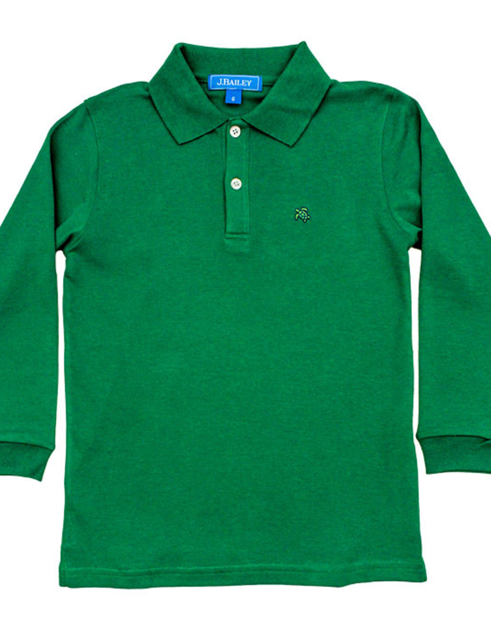 The Bailey Boys Long Sleeve Kelly Green Polo