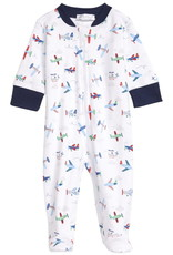 Kissy Kissy Airplane Zipper Footie