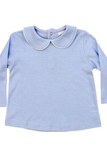 The Bailey Boys Light Blue and White Unisex Button Back Shirt