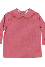 The Bailey Boys Boys Piped Red Check Shirt