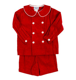 The Bailey Boys Red Cord Dressy Short Set