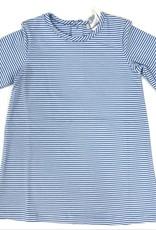 Ishtex Blue And White Stripe A-Line Dress