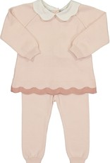 Feltman Brothers Scalloped Contrast Trim Knit Set