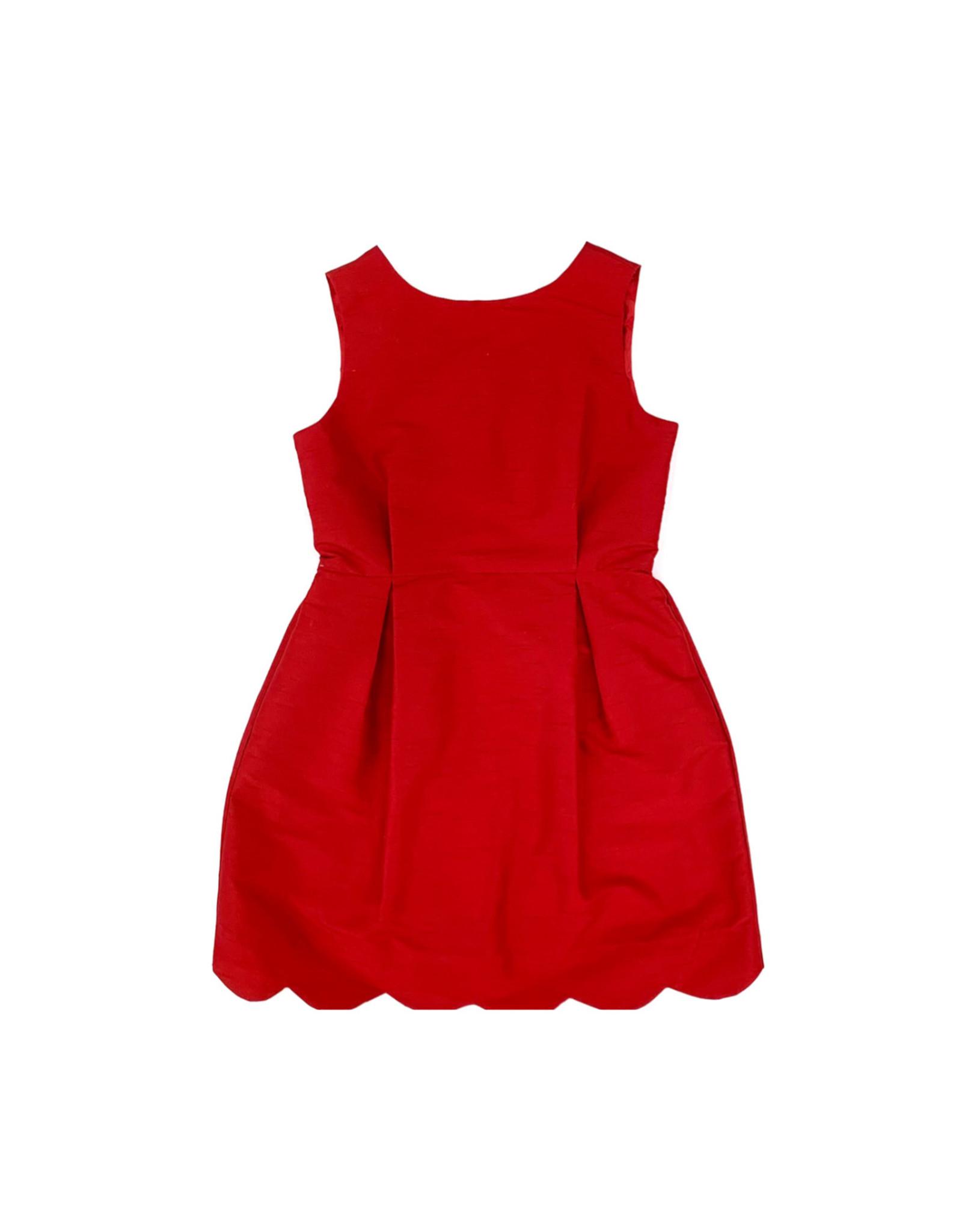 Aviana Red Silk Dress