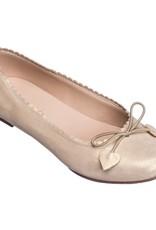 Elephantito Scalloped Ballerina Suede Gold
