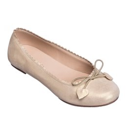 Elephantito Scalloped Ballerina Suede Gold